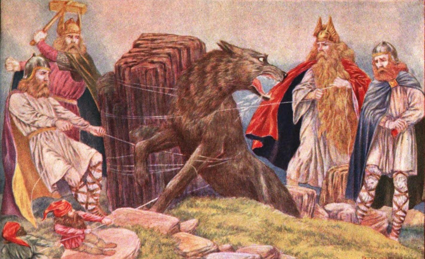Image of Gods binding Fenrir