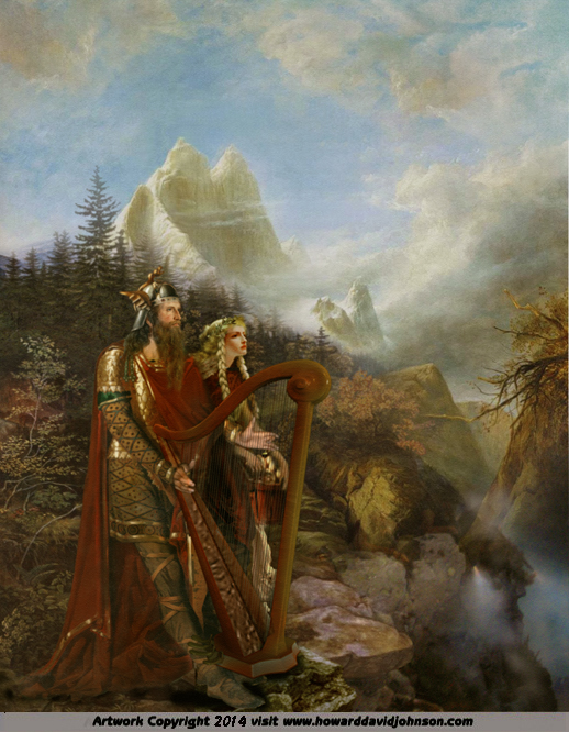 norse myths legends paintings of nordic mythology a