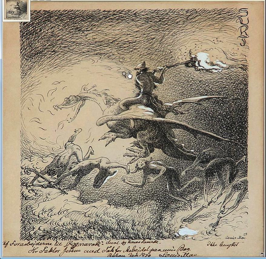 Louis Moe's Ragnarok, En Billeddigting